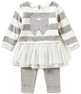 Sweet Heart Rose Baby Girls 12-24 Months Striped Bow-Applique Dress & Leggings Set
