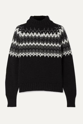 &Daughter Bansha Fair Isle Merino Wool Turtleneck Sweater - Black