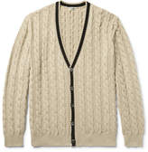 Camoshita Cable-Knit Cotton Cardigan