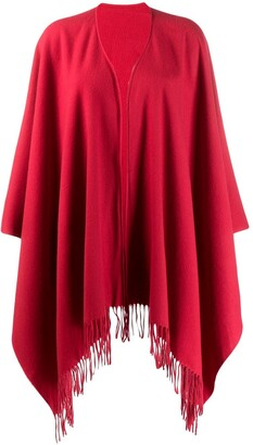 Moschino Pre Owned 1990s Fringed Poncho