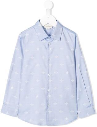 Gucci Kids Star And Bee Print Shirt