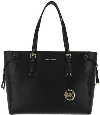 Michael Kors Women's Totebags Black - Black Voyager Leather Tote