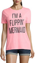 Arizona I'm a Flippin' Mermaid Graphic T-Shirt- Juniors
