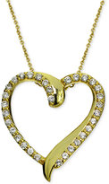Giani Bernini Cubic Zirconia Heart Pendant Necklace in 18k Gold-Plated Sterling Silver, Only at Macy's