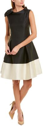 Sara Campbell Silk-Blend A-Line Dress