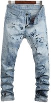 magic show Men's Fashion Hot Drilling Slim Waist Straight Denim Jeans Trousers NZ35