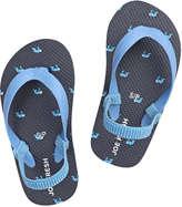 Joe Fresh Toddler Boys' Print Flip Flops, Navy (Size M)