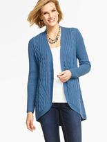 Talbots Mixed-Cable Cocoon Cardigan