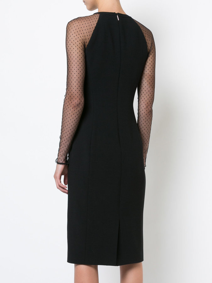 Jason Wu spotted mesh sleeve dress