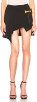 Anthony Vaccarello Vertical Belt Asymmetrical Skirt