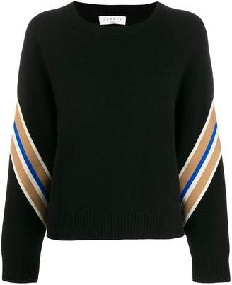 Sandro Paris Manuel contrasting sleeves sweater