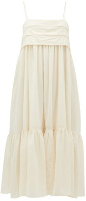 Loup Charmant Iliana Bow-back Organic-cotton Dress - Ivory