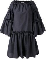 MSGM oversized ruffle dress - women - Cotton/Polyester - 40