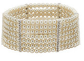Cezanne Multi-Row Faux-Pearl Stretch Bracelet