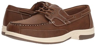 Deer Stags Mitch Boat Shoe (Dark Grey Simulated Oiled Leather) Men's Shoes