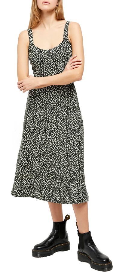 Free People Lorelai Daisy Print Tie Back Sundress
