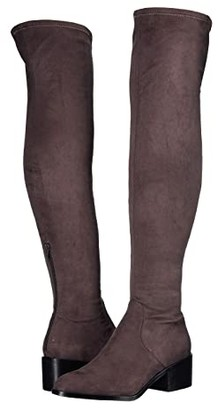 Steve Madden Georgette Over the Knee Boot (Dark Grey) Women's Shoes