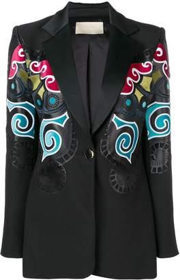 Elie Saab multicoloured print blazer