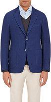 Isaia Men's Solid Cortina Sportcoat-NAVY