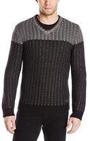 Calvin Klein Men's Cotton-Wool Acrylic V-Neck Sweater