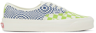 Vans Green and Blue Check OG Authentic LX Sneakers
