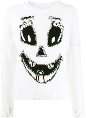 Moschino Pumpkin Face intarsia jumper