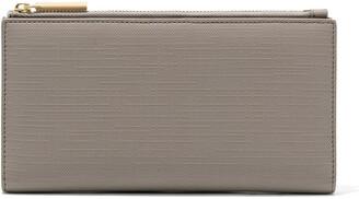 Dagne Dover Signature Slim Coated Canvas Wallet