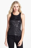 Bailey 44 'Extraterrestrial' Embossed Faux Leather Front Tank