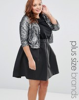 Junarose Plus Praw Bolero In Sequins