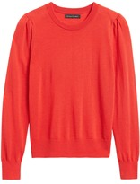 Banana Republic Petite Washable Merino Puff-Sleeve Sweater