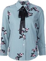 Marc Jacobs floral gingham shirt