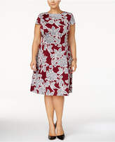 Alfani Plus Size Printed Fit and Flare Dress, Created for Macy's