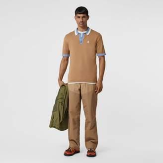 Burberry Monogram Motif Tipped Cotton Polo Shirt