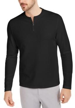 Alfani Men's Quarter-Zip Thermal Shirt, Created for Macy's