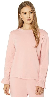 ban.do Ruffle Sweatshirt Script) Women's Clothing