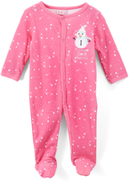 Sweet & Soft Pink Snowman Footie - Infant