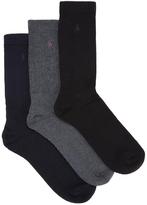 Ralph Lauren Cotton Blend Socks - Set Of Three