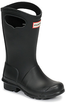 Hunter ORIGINAL PULL ON girls's Wellington Boots in Black