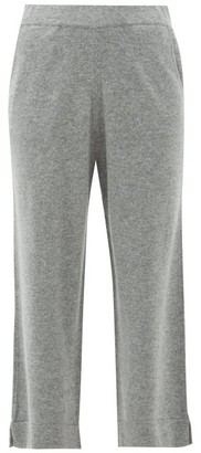 Allude Cropped Wide-leg Cashmere Trousers - Dark Grey