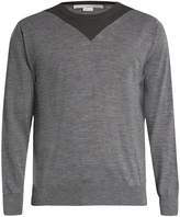 Stella McCartney Two-tone crew-neck wool sweater