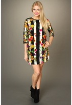 Juicy Couture Adorned Floral Stripe Tunic Dress (Adorned Fall Stripe) - Apparel