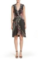 Etro Women's Paisley & Polka Dot Silk Flutter Dress