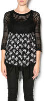 Entro Floral Fringe Sweater