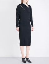 Anglomania Timans asymmetric-neck stretch-jersey dress