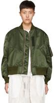 Sacai Green Ma-1 Bomber Jacket