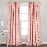 Lush Decor Lush Décor Sausage Dog 84-Inch Room Darkening Rod Pocket Window Curtain Panel Pair in Pink