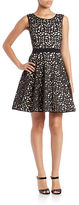 Xscape Evenings Laser-Cut Fit-and-Flare Dress
