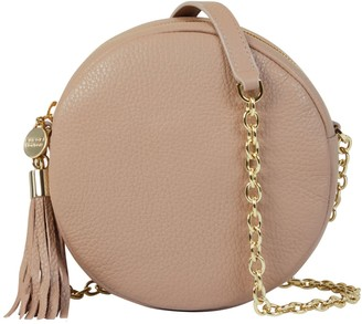 Aurora London The Cleo Circle Leather Bag Mink