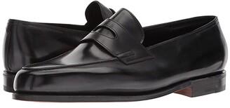 John Lobb Lopez Loafer (Black) Men's Slip on Shoes