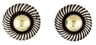 David Yurman Two-Tone Round Cable Earrings